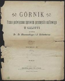 Górnik 1885 : treść