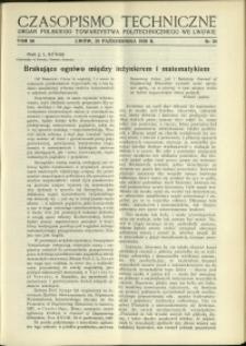 Czasopismo Techniczne : 1938 : nr 20