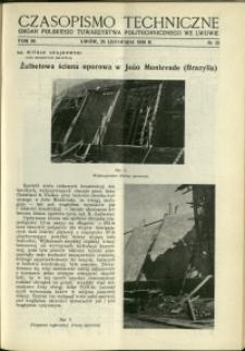 Czasopismo Techniczne : 1938 : nr 22