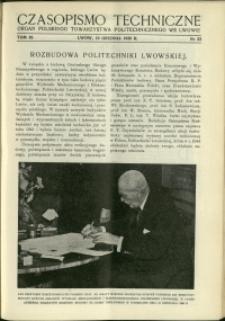 Czasopismo Techniczne : 1938 : nr 23