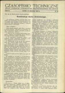 Czasopismo Techniczne : 1938 : nr 24