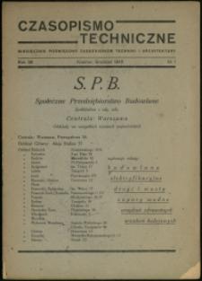 Czasopismo Techniczne : 1945 r. : nr 1