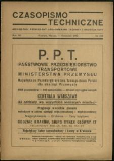 Czasopismo Techniczne : 1946 : nr 4-5