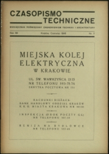 Czasopismo Techniczne : 1946 : nr 7