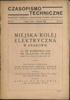 Czasopismo Techniczne : 1946 : nr 8-9