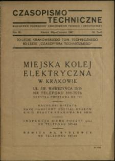 Czasopismo Techniczne : 1947 : nr 5-6