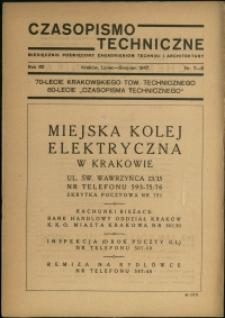 Czasopismo Techniczne : 1947 : nr 7-8