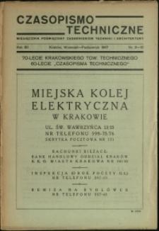Czasopismo Techniczne : 1947 : nr 9-10