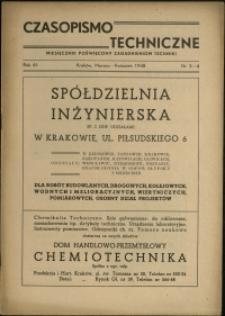 Czasopismo Techniczne : 1948 : nr 3-4