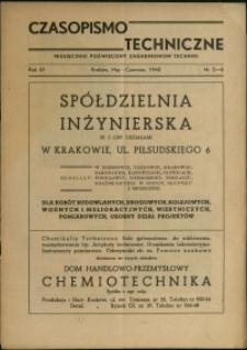 Czasopismo Techniczne : 1948 : nr 5-6
