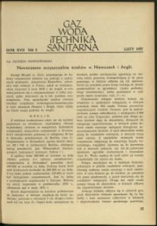 Gaz, Woda i Technika Sanitarna : 1937 : nr 2