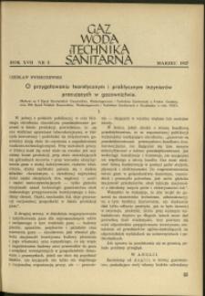 Gaz, Woda i Technika Sanitarna : 1937 : nr 3