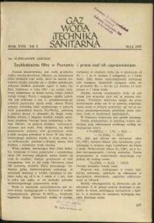 Gaz, Woda i Technika Sanitarna : 1937 : nr 5