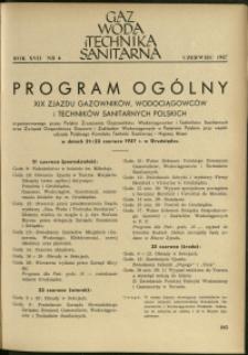 Gaz, Woda i Technika Sanitarna : 1937 : nr 6