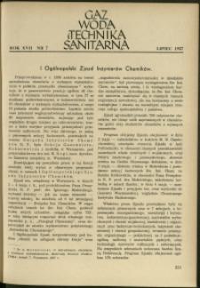 Gaz, Woda i Technika Sanitarna : 1937 : nr 7