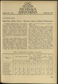 Gaz, Woda i Technika Sanitarna : 1937 : nr 8