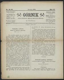 Górnik 1885 : z. 14, 15
