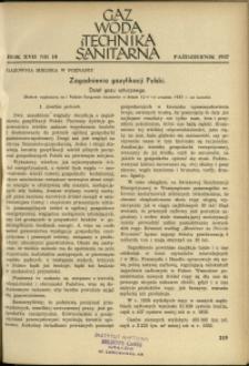 Gaz, Woda i Technika Sanitarna : 1937 : nr 10