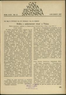 Gaz, Woda i Technika Sanitarna : 1937 : nr 12
