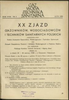 Gaz, Woda i Technika Sanitarna : 1938 : nr 2