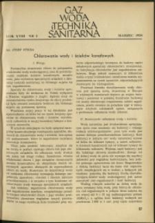 Gaz, Woda i Technika Sanitarna : 1938 : nr 3