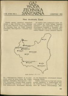Gaz, Woda i Technika Sanitarna : 1938 : nr 6