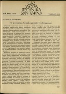 Gaz, Woda i Technika Sanitarna : 1938 : nr 9