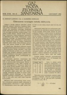 Gaz, Woda i Technika Sanitarna : 1938 : nr 12