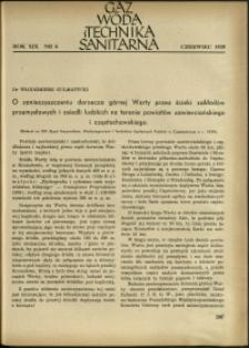 Gaz, Woda i Technika Sanitarna : 1939 : nr 6