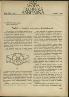 Gaz, Woda i Technika Sanitarna : 1939 : nr 7