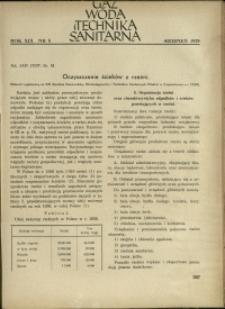 Gaz, Woda i Technika Sanitarna : 1939 : nr 8