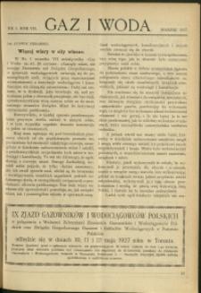 Gaz i Woda : 1927 : nr 3