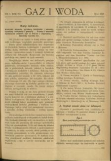 Gaz i Woda : 1927 : nr 5