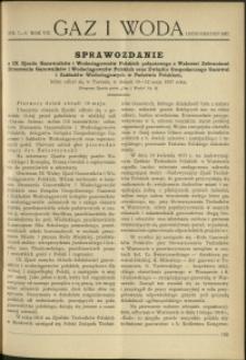 Gaz i Woda : 1927 : nr 7-8