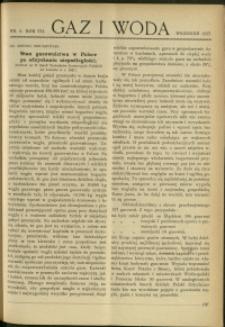 Gaz i Woda : 1927 : nr 9