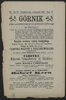 Górnik 1885 : z. 18, 19