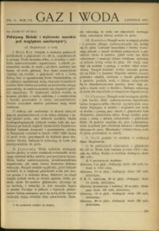 Gaz i Woda : 1927 : nr 11