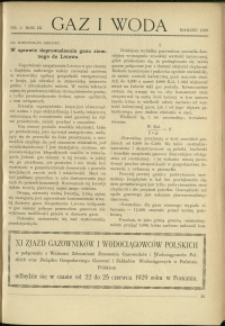 Gaz i Woda : 1929 : nr 3