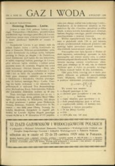 Gaz i Woda : 1929 : nr 4