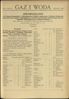 Gaz i Woda : 1929 : nr 8