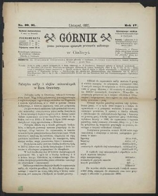 Górnik 1885 : z. 20, 21