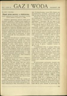 Gaz i Woda : 1929 : nr 9