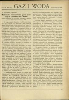 Gaz i Woda : 1929 : nr 10