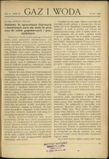 Gaz i Woda : 1930 : nr 2