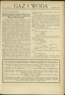 Gaz i Woda : 1930 : nr 3