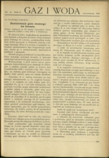 Gaz i Woda : 1930 : nr 10