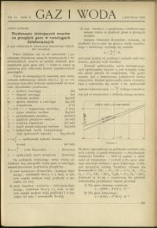 Gaz i Woda : 1930 : nr 11
