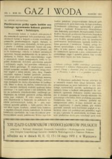 Gaz i Woda : 1931 : nr 3