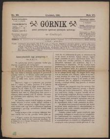 Górnik 1885 : z. 22