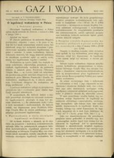 Gaz i Woda : 1931 : nr 5